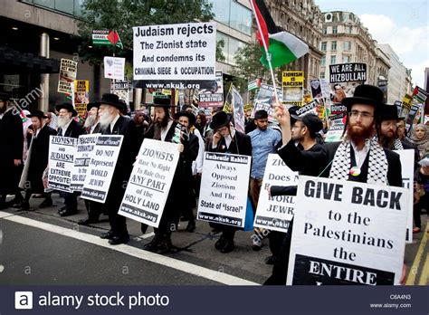 Orthodox Jewish anti Israeli / Zionism demonstration in