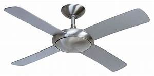 Fantasia orion brushed aluminium ceiling fan remote