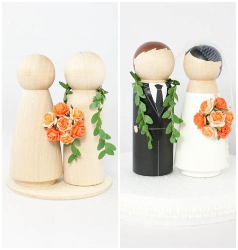 diy hawaiian wedding cake topper set 2 unfinished wooden