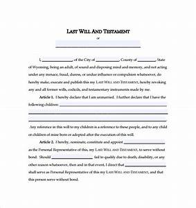 28 simple will template survivingmstorg With easy last will and testament free template