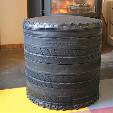 Recycled Tyre Stool | Dojo Ecoshop at The Manchester Futon ...
