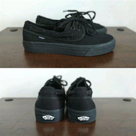 jual sepatu sekolah vans hitam polos fashion posindonesia cek harga di pricearea