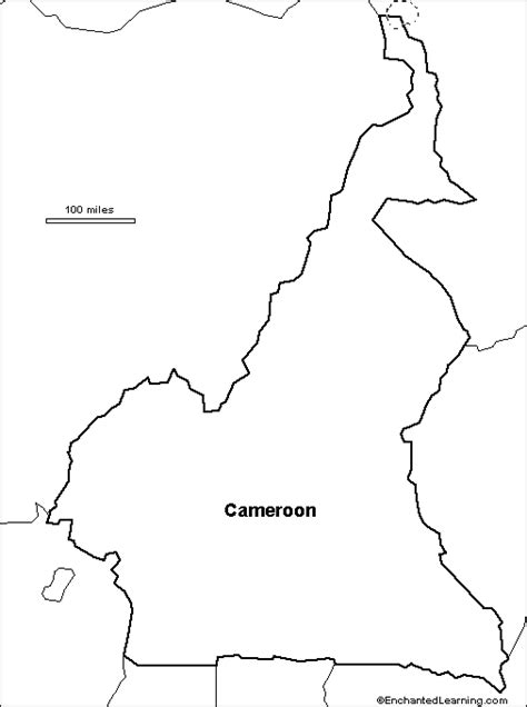 outline map research activity  cameroon