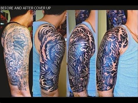 cover  tattoo black gray koi fish youtube