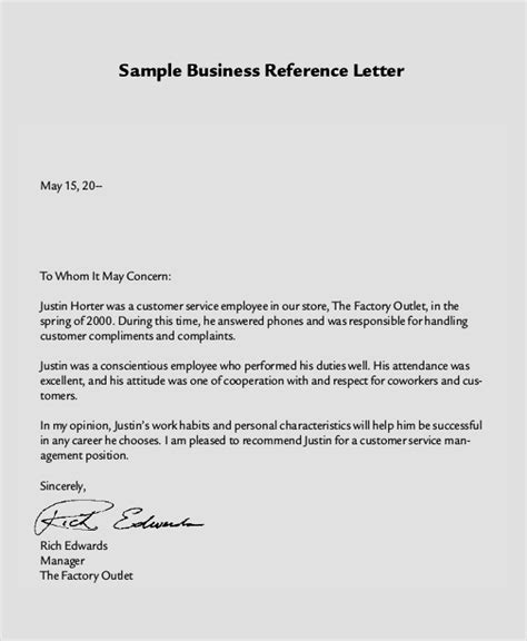 reference letter samples examples templates