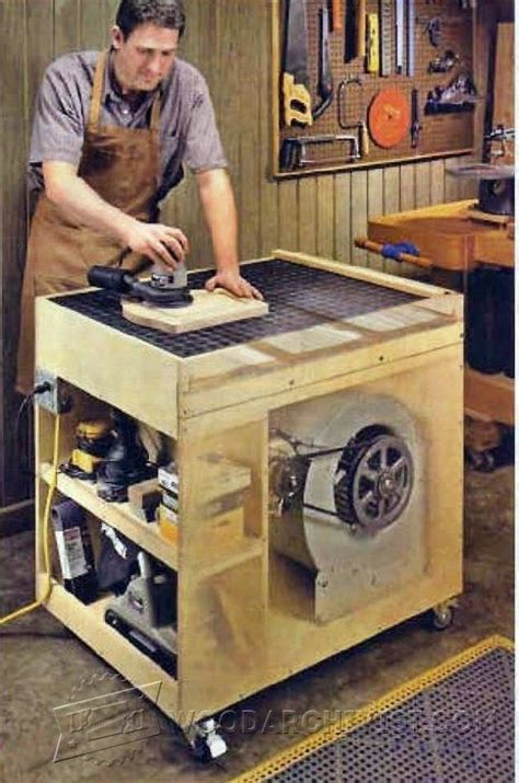 dust  downdraft sanding table plans sanding tips