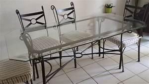 Table Verre Et Fer Forgé : table verre et fer forge ~ Teatrodelosmanantiales.com Idées de Décoration