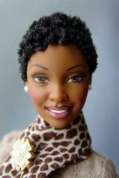 Barbie has a twist out   Beautiful black Barbies and