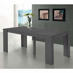 Table Console Extensible SWITCH Gris Satin Achat Vente