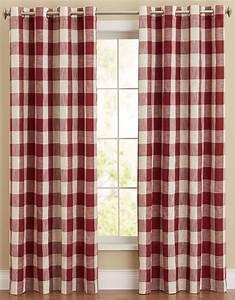 Courtyard Plaid Check Curtain Panel Black Lorraine