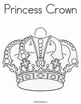 Crown Coloring Princess Pages Tiara Printable Royal Diva Usa Noodle Getcoloringpages Twistynoodle sketch template