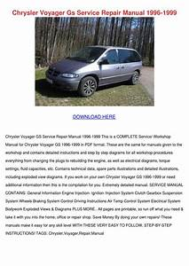 Chrysler Voyager Gs Service Repair Manual 199 By