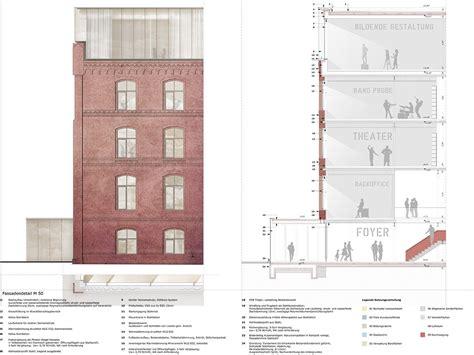 grundriss schnitt ansicht 2 preis leitdetail in schnitt grundriss und ansicht 169 scheidt kasprusch ges v architekten