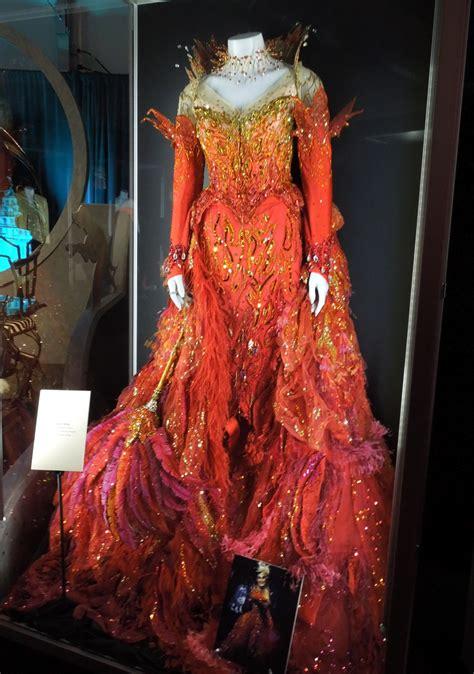 cruella de vils  dalmatians flame dress worn  glenn close  display hollywood