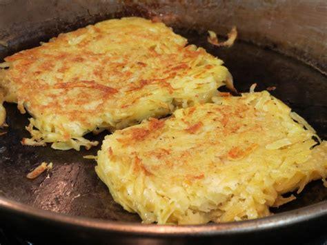 recette galettes de pommes de terre au jambon