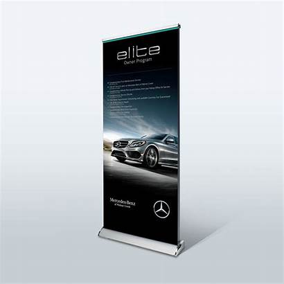 Banner Roll Stand Deluxe Retractable Banners Premium