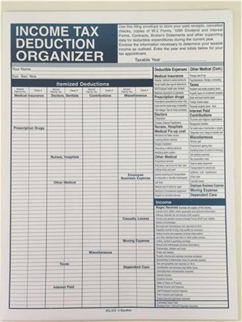 income tax organizer recordkeeper file envelope