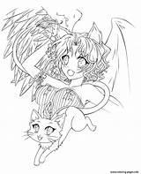 Anime Angel Coloring Manga Engel Ausmalbilder Demonic Colorear Tenshi Malvorlagen Coloriage Demon Deviantart Devil Yume Kleurplaat Schutzengel Fur Kinder Kostenlos sketch template