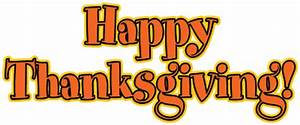 Clipart Happy Thanksgiving Signs - ClipartXtras