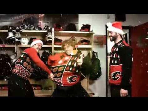 vince guaraldi trio calgary calgary flames ugly christmas sweaters hiller bollig