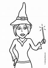Coloring Pages Halloween Witch Wand Printable Witches 4kids источник Holidays sketch template