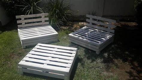 diy designed pallet patio furniture set  pallets