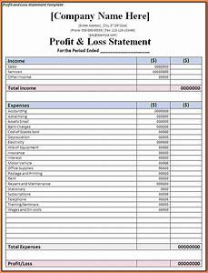 Template Estimate For Construction 7 Business Profit And Loss Spreadsheet Excel