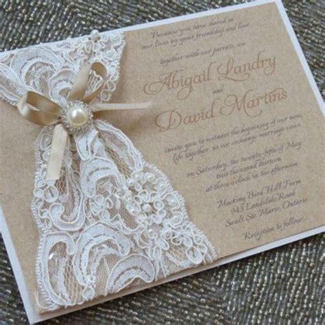 lace wedding invitations fabulous diy lace wedding