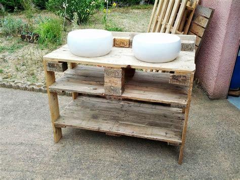 meuble fabrique avec des palettes meuble salle de bain palette bricolage maison et d 233 coration