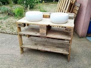 Plan Meuble Palette : meuble palette salle de bain l 39 habis ~ Dallasstarsshop.com Idées de Décoration