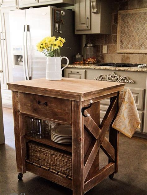 how to build a movable kitchen island mobile kitchen island diy woodworking projects plans