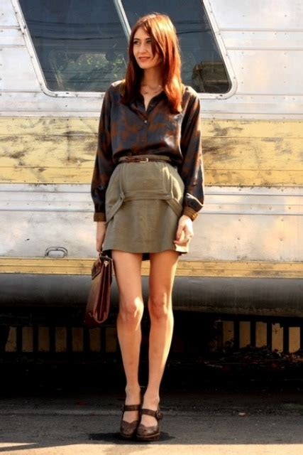 trendy olive green skirt outfits styleoholic