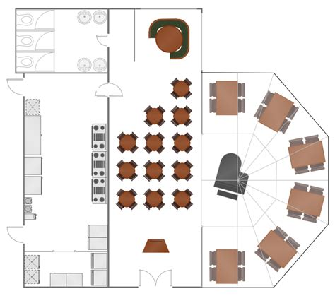 Floor Layout Of An Cafe by Restaurant Layouts