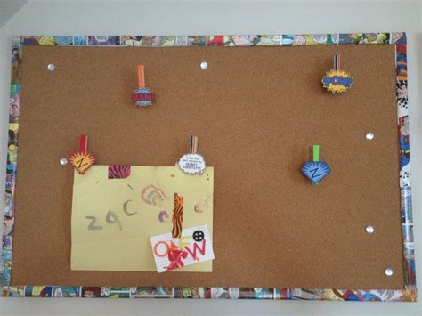 Diy Superhero Cork Board And Clips