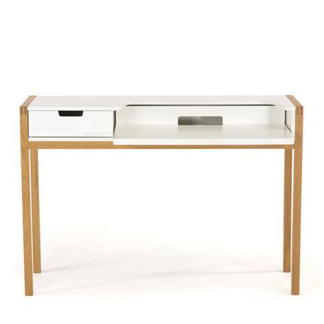 bureau blanc et bois bureau scandinave farringdon par drawer fr