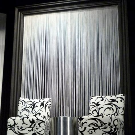 String Curtains by White String Curtain Panel