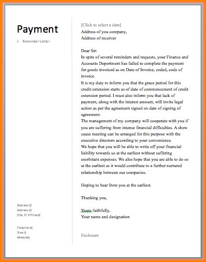 payment   invoice politely simple