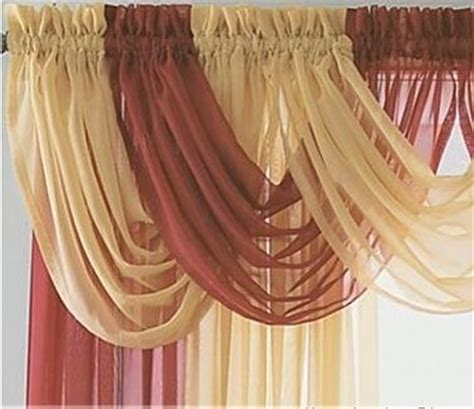 wholesale beautiful sheer curtain valance waterfall swag