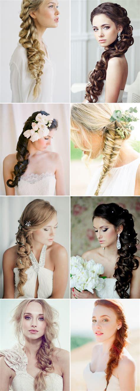 97 bridesmaid hairstyle side braid side fishtail braid wedding hairstyle frisuren mit wow
