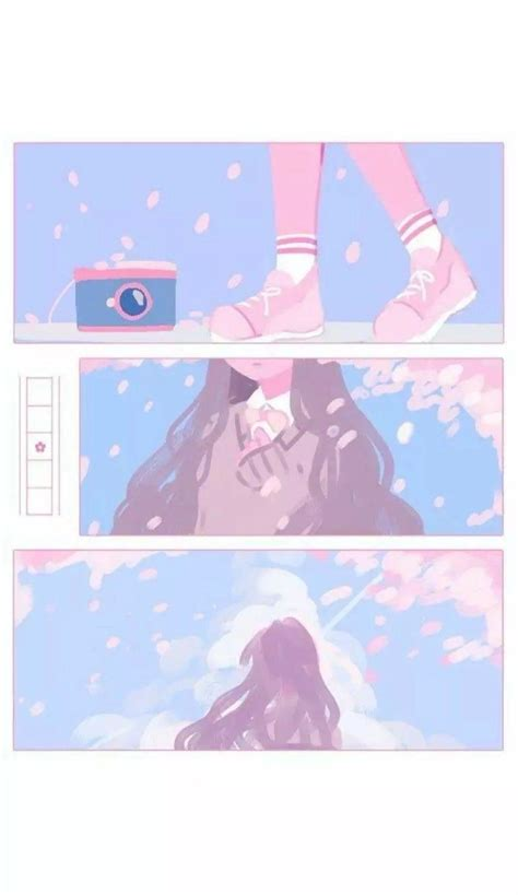 anime aesthetic pink wallpapers wallpaper cave