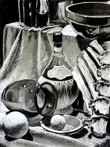 Still Life With A Bottle In It. Original I Know Drawing by ...