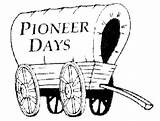 Pioneer Coloring Clipart Wagon Days History Clip Covered Cliparts Comments Library sketch template