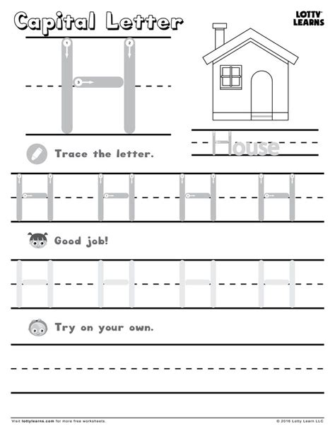 capital letter h lotty learns abc printables