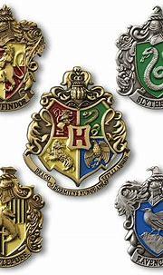 Harry Potter Hogwarts House Crest Pin Set