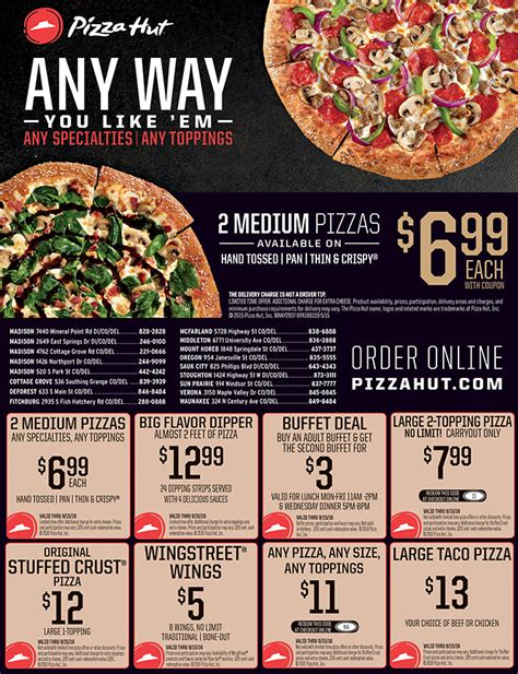 pizza hut cottage grove wi food dining dollars and sense magazinedollars and