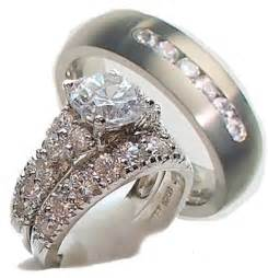 his and hers wedding rings cheap his hers 3 engagement wedding ring set 925 sterling silver titanium ebay