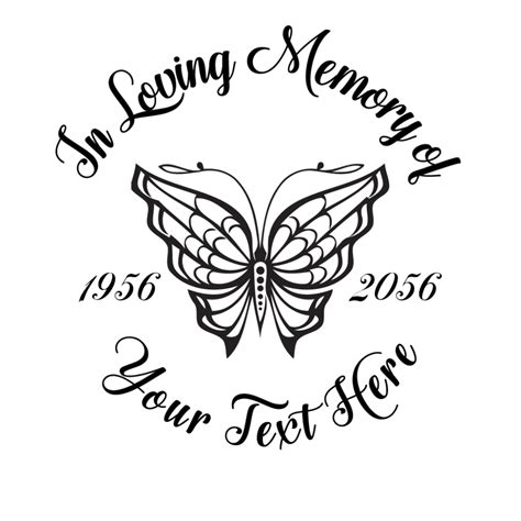 loving memory butterfly decal photomalcom
