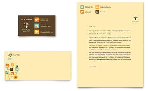 Business Services Business Card & Letterhead Template