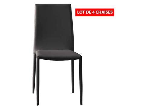 lot de 4 chaises coloris noir meubles pas cher chaise cuisine cuisine