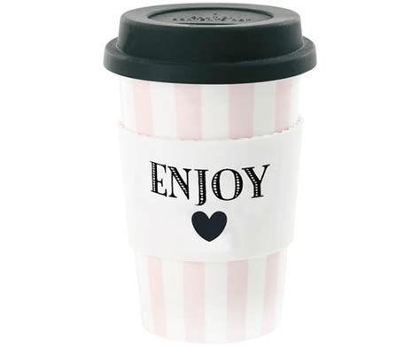Coffee-to-go-Becher Weiß-Rosa - MISS ÉTOILE >> WestwingNow